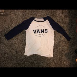 Navy and white Vans baseball tee